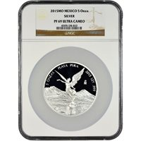 2015 5 oz Proof Silver Mexican Libertad Coins NGC PF69 UCAM