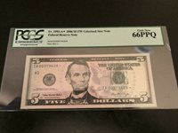 $5 2006 Federal Reserve Star Note Boston PCGS 66 PPQ GEM NEW LOW SERIAL #