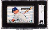 Only seven finer!1951 Bowman Mickey Mantle #253 SGC NM/MT 8.