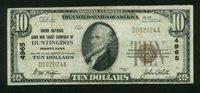 Fr No.1801-1 $10 Pennsylvania 1929 4965 Huntingdon VF