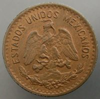 Mexico 1943 Centavo Red and Brown UNC