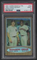 1997 TOPP'S MICKEY MANTLE WILLIE MAYS FINEST REFRACTOR REPRINT 1962 #33 PSA 9