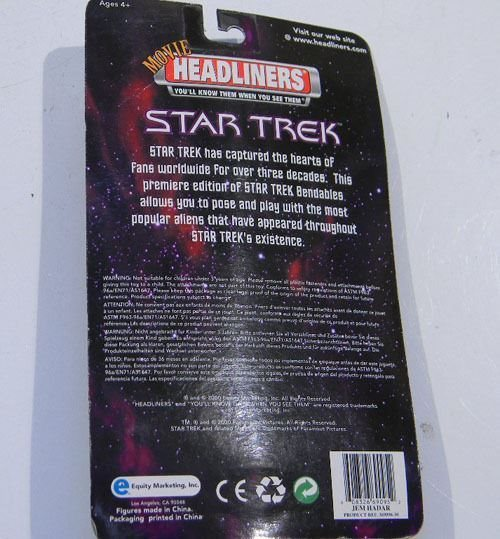 2000 STAR TREK MOVIE HEADLINERS DEEP SPACE NINE JEM HADAR NIB BENDABLE NEW