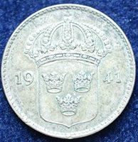 1941 Sweden 10 Silver Ore
