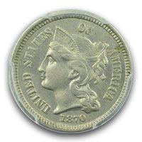 1870 3CN Three Cent Nickel PCGS MS62