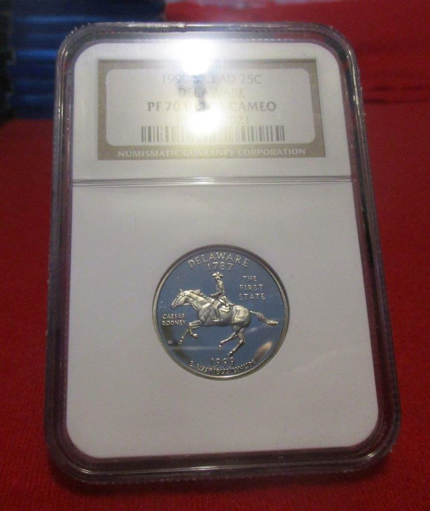 1999 S Proof Pennsylvania State Quarter graded PF 70 Ultra Cameo by NGC!
