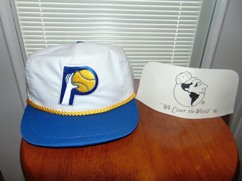 INDIANA PACERS Snapback Basketball NBA Hat Cap 90 s Brand NEW White VINTAGE 7027c14d40d