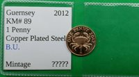World Foreign Old British B.U. Guernsey 1 Penny Coin 2012 KM# 89 !!
