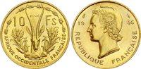 FRENCH WEST AFRICA 1956 10 Franc, Essai (Special Strike)