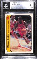 1986-87 Fleer Michael Jordan #8 Rookie Sticker Graded Beckett BGS 9 Mint