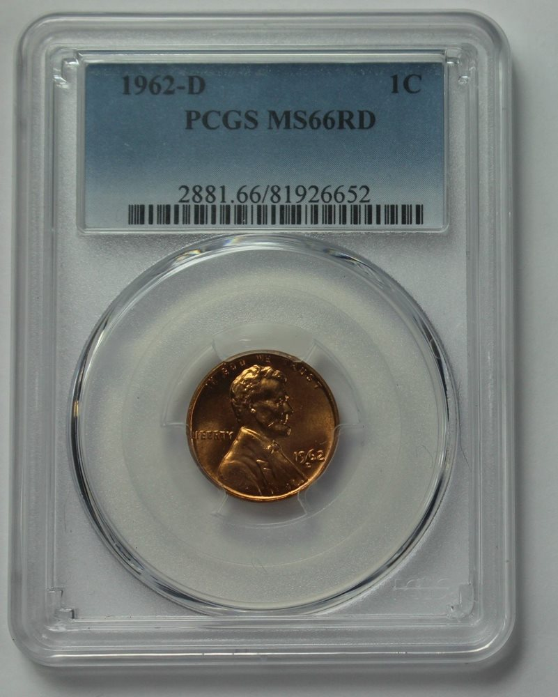 1962-D Lincoln Memorial Cent PCGS MS66RD ~ HAND SELECTED FOR PREMIUM QUALITY ~