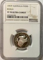 1997-P Australia 1/2 oz Platinum $50 Koala NGC Proof-70 UC