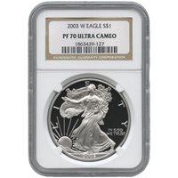 2003-W 1 oz Proof Silver American Eagles NGC PF70 UCAM