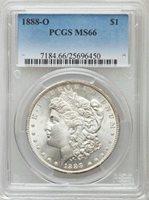 1888 O $1 MORGAN PCGS MS66