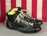 865c8de30 Vintage 1930s Football Soccer Boots Leather Rugby Shoes Cleats 9 Antique  Nice!