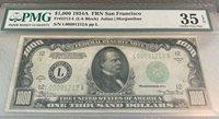 1934 $Fr.2212-L 1000 San Francisco Choice PMG VF35 EPQ-Another Peach&Best Value