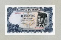 500 Pesetas 23 7 1971 Spanien P 153a