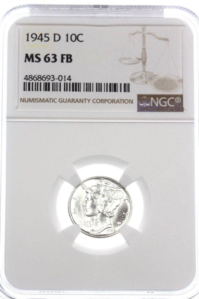 1945-D Mercury Dime PCGS MS-67