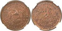 (1837) James G. Moffet Hard Times Token, NGC UNC Details - Imprprly Clnd, HT-297