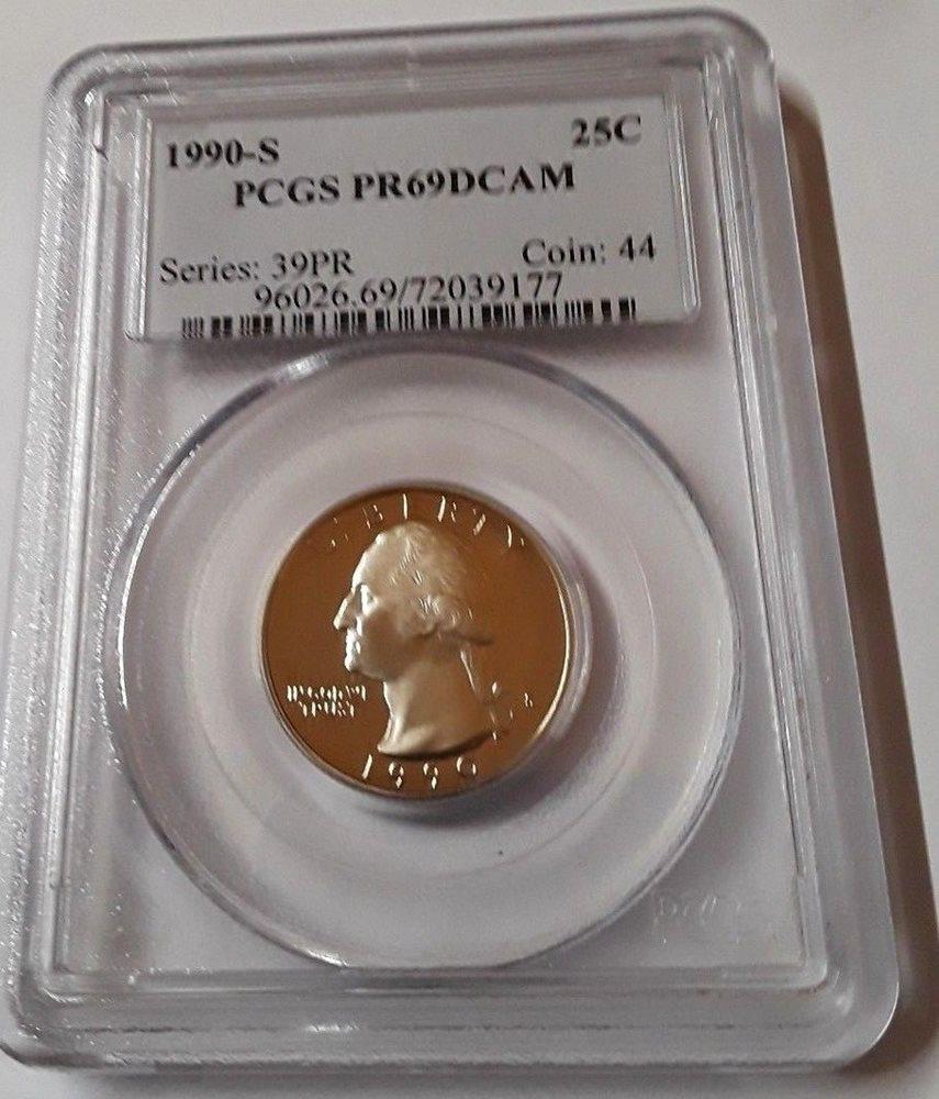 1990-S Proof Washington Quarters PCGS PR69 DCAM