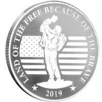 2019 1 oz Veterans NRA Silver Round