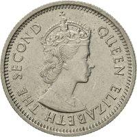 East Caribbean States, Elizabeth II, 10 Cents, 1965, AU(55-58), Copper-nickel