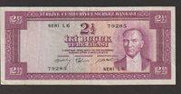 2 1/2 Lira Banknote L 1930 Turkey