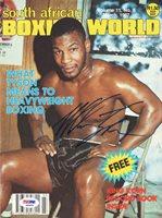 Mike Tyson Autographed Boxing World Magazine Cover Vintage PSA/DNA #Q65634Mike Tyson Autographed Boxing World Magazine Cover Vintage PSA/DNA #Q65634