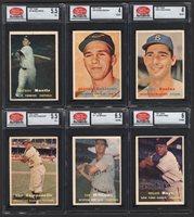 Lot # 122: 1957 Topps Baseball Complete Set with PSA & SGC Graded (407)