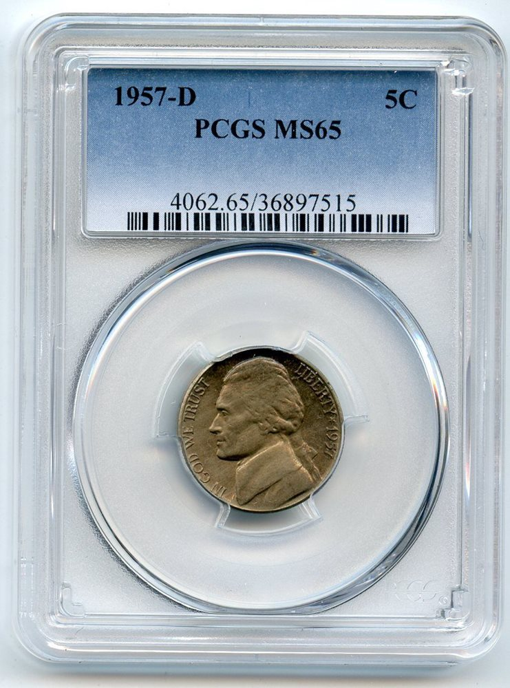 PCGS MS-65 1957-D Jefferson Nickel Coin *PRICE FOR ONE COIN ONLY*