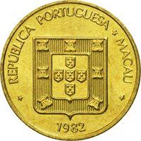 Macau, 10 Avos, 1982, MS(65-70), Brass, KM:20