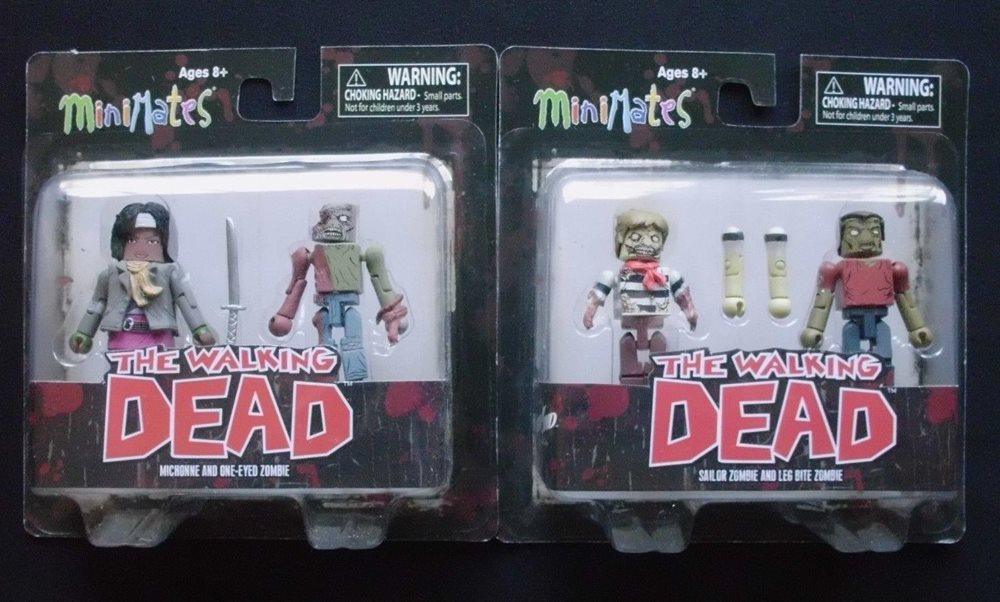 The Walking Dead Minimates-MICHONNE /& one-eyed Zombie
