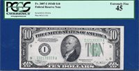 *VINSON* 1934B $10 Minneapolis Green Seal FRN - PCGS Extremely Fine XF 45 - C2C