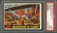 "1962 Mars Attack #5 WASHINGTON IN FLAMES PSA 9 O/C MINT """"1962 Mars Attack #5 WASHINGTON IN FLAMES PSA 9 O/C MINT """""