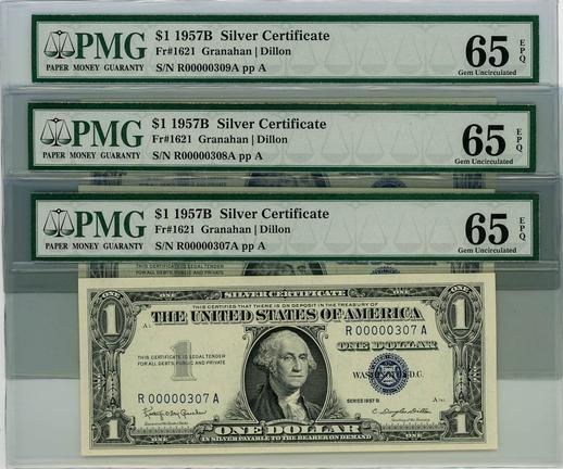 1957B $1 Fr.1621 Silver Certificates Gem Unc.65 EPQ PMG