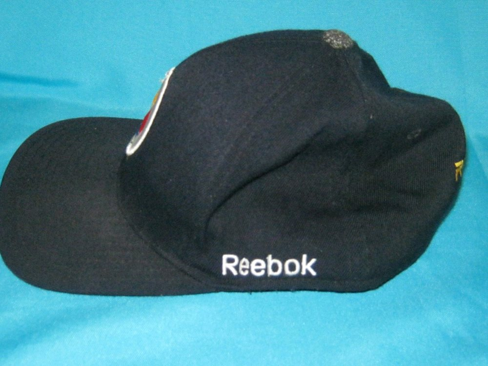 RARE NFL PITTSBURGH STEELERS FITTED CAP HAT - REEBOK ON f3c6475a557