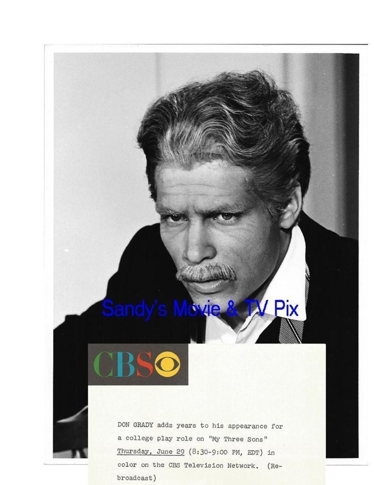 DON GRADY Terrific Vintage TV Photo MY THREE SONS