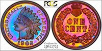 Incredibly Beautiful 1902 Proof Indian Cent 1902 Indian Cent PCGS Gold Shield PR-66BN.