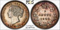 1900 Canada 5 Cents PCGS AU-55