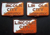 LINCOLN CITY AMBULANCE PATCHES LOT OF 3 PATCHES 2 WITH ERRORS