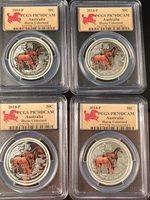 2014 PCGS PR70 1//2oz Australian Silver Proof Colored Horse