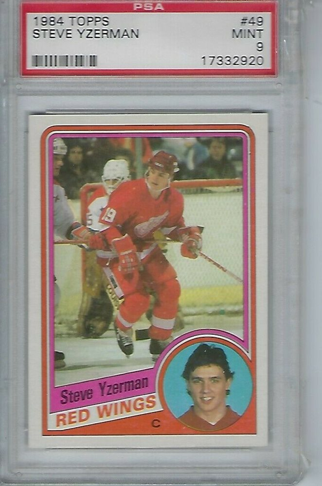 1984 TOPPS #49 STEVE YZERMAN RC PSA 9 Rookie Card