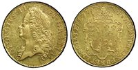 GREAT BRITAIN. George II. (King, 1727-1760). 1748 AV Five Guineas. PCGS MS62. GEORGIVS · II · - DEI · GRATIA ·. Laureate head left / F · D · B · ET · L · D · S · R · I · A · T · ET · E · - M · B · F · ET · H · REX ·. Crowned 4-fold arms. KM 586.2; S