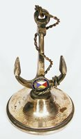 """1920s -1950s """"S. S. MALOJA"""" steamship immigrant anchor souvenir paper weight"""