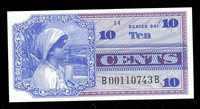 MPC Series 661 GEM UNC 10 Cents Military Payment Certificate (743-206)