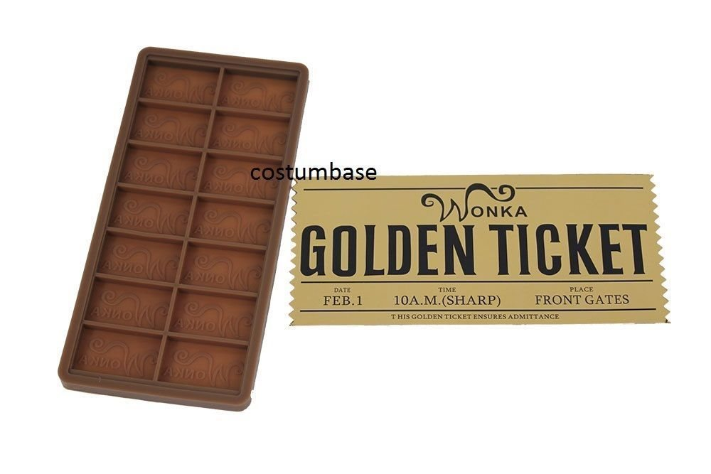 Willy Wonka Diy Mould Golden Ticket Chocolate Bar Casting Mold 75 X 35