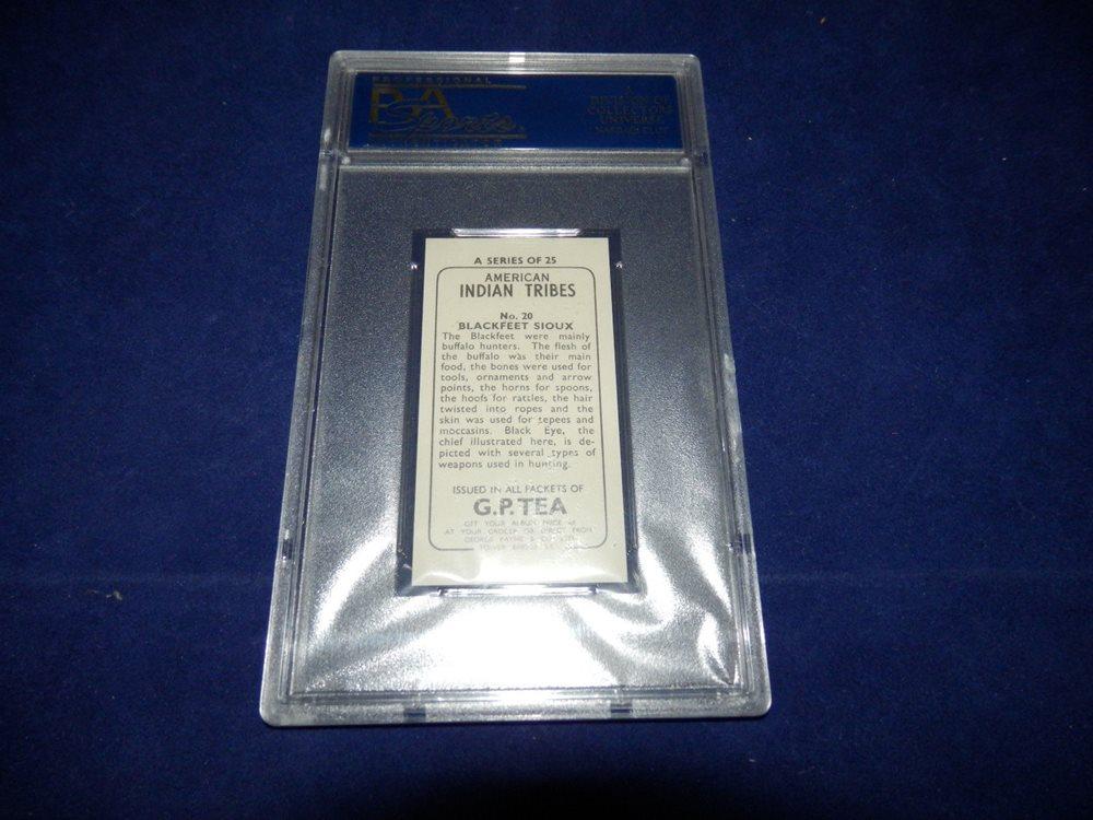 1962 G P  Tea American Indian Tribes Card PSA 9 Blackfeet Sioux #20