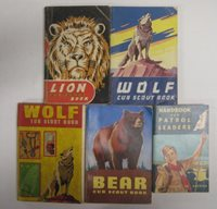 Vtg 40's - 70's Lot Cub Boy Scout Books Manuals WOLF LION BEAR Patrol Handbook