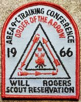 1966 Area 9-C Training Conference - Will Rogers Scout Reservation BSA/OA