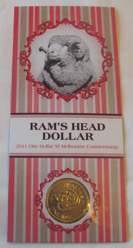 2011 $1 RAMS MELBOURNE M COUNTERSTAMP COUNTER STAMP COIN
